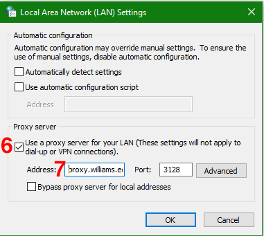 Connecting through the proxy server – Libraries