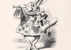 White Rabbit as herald