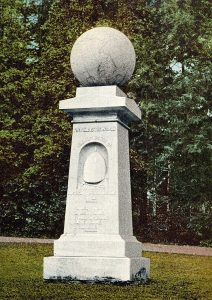 Photo of haystack monument