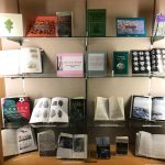 Books in the Schow display case