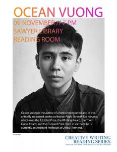 Poster for Ocean Vuong Reading