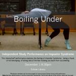 Poster for 'Boiling Under', December 1, 8:30pm, Schow Science Library