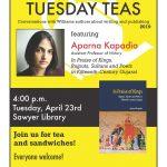 Poster for Aparna Kapadia Tuesday Teas