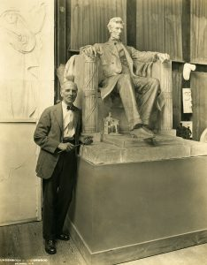 Daniel Chester French and seated Lincoln model