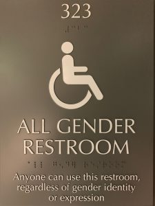 Anyone can use this restroom, regardless of gender identity or expression