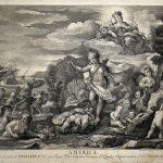 Engraving America by Juan Antonio Salvador Carmona after Luca Giordano