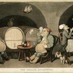 The Cellar Quartetto, lithograph by Thomas Rowlandson