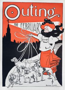 Outing magazine cover February 1896