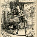Thomas Nast Mark Twain in Canada Harpers Weekly wood engraving
