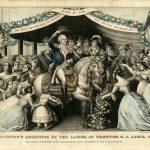 Washington's Reception by the Ladies lithograph Kellogg