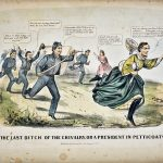 Currier and Ives Last Ditch of Chivalry lithograph