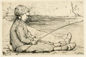 Eugene by Charles B. Foster etching 1879