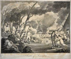 Battle of Lexington engraving