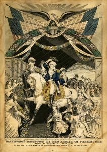Washington's Reception by the Ladies lithograph Currier