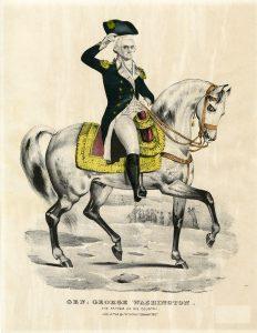 General George Washington Currier lithograph
