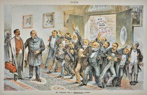 Joseph Keppler Democratic Negro in the Senate lithograph for Puck