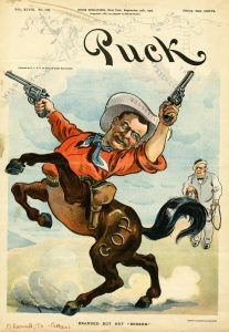 Udo Keppler Theodore Roosevelt lithograph for Puck