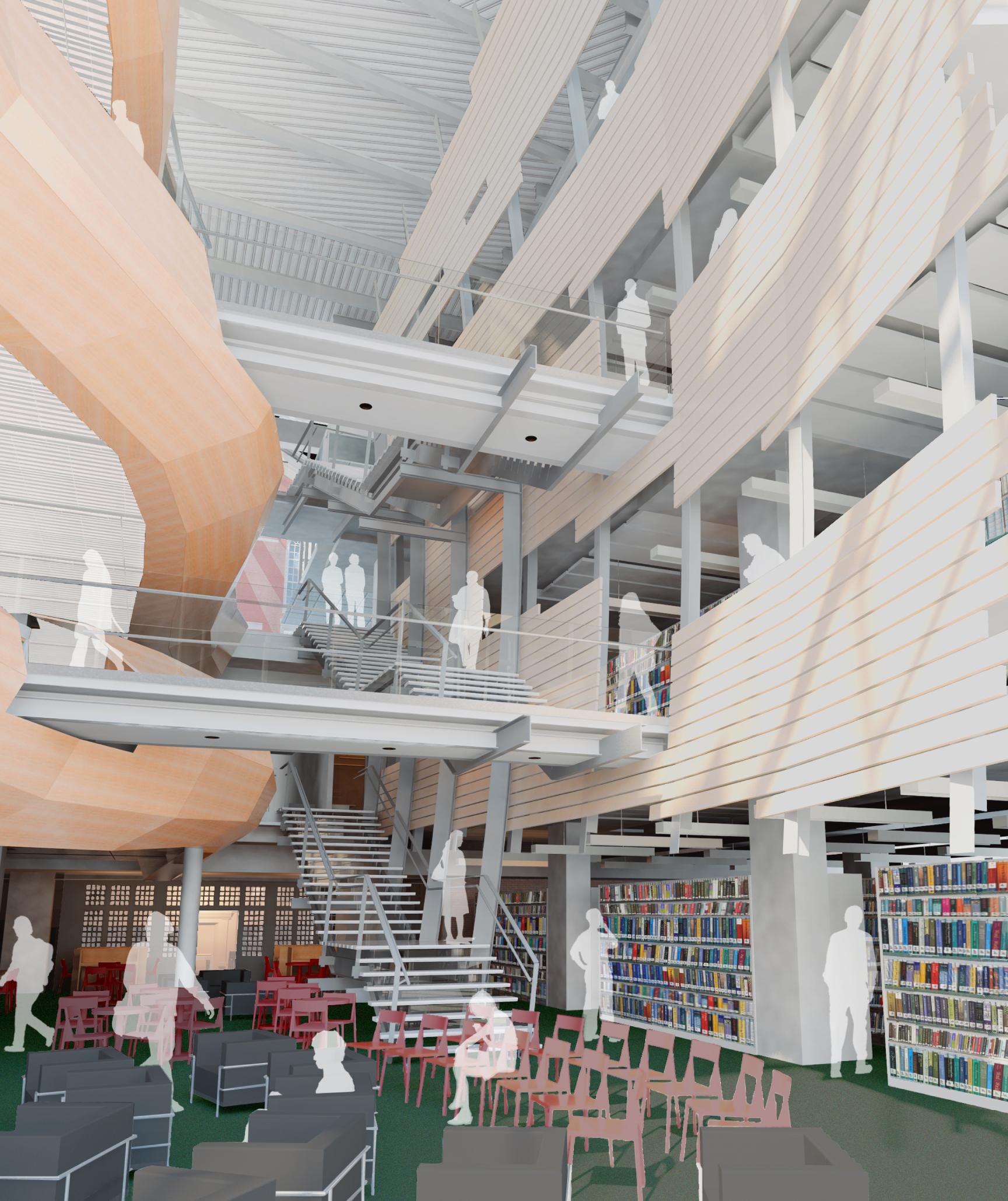 New Atrium Sawyer Library
